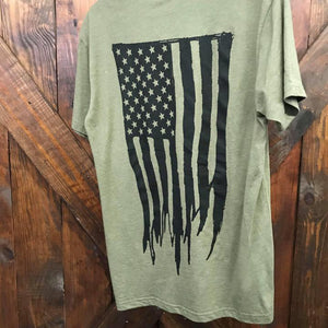 Tattered Flag Tee -olive