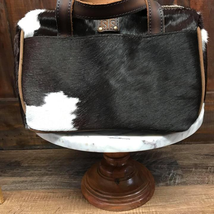 STS cowhide MU bag black