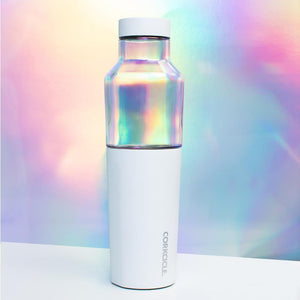 Corkcicle Hybrid Canteen- white prism and dragonfly