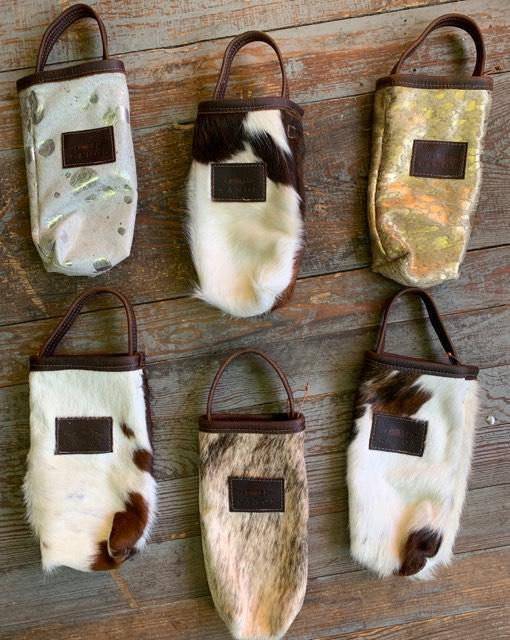 Canoe Cowhide Bottle Totes