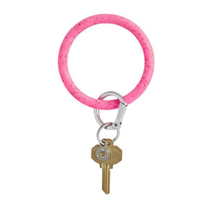 Big-O Silicone KeyRing - Tickled Pink COnfetti