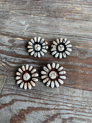 White Jericho stud earrings Sookie Sookie