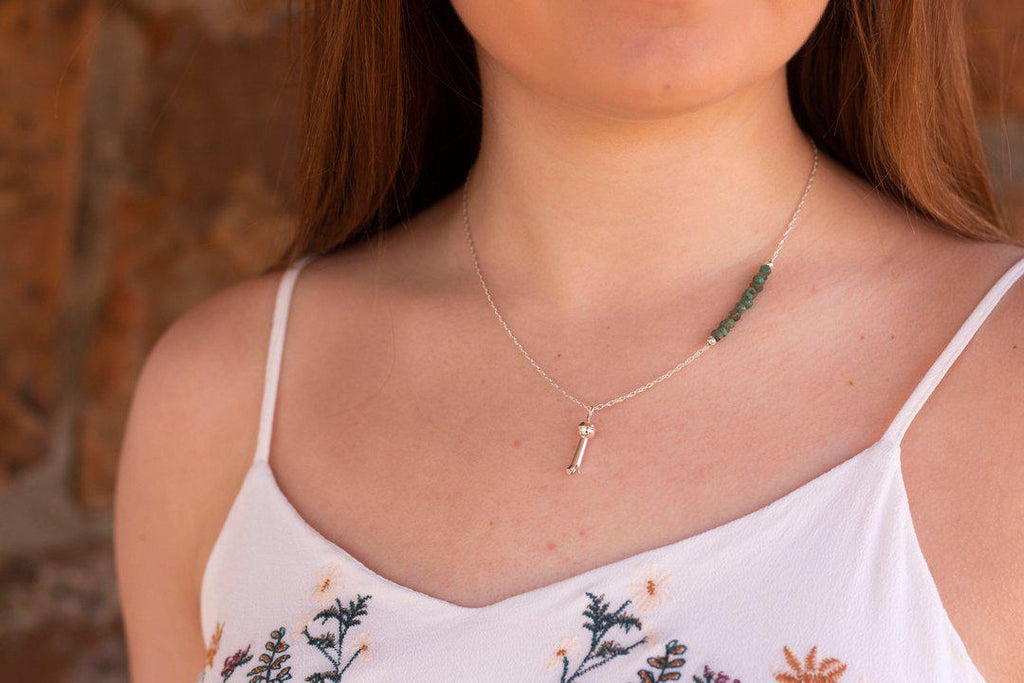 Painted Desert Necklace // Emerald Blossom Prairie Sky