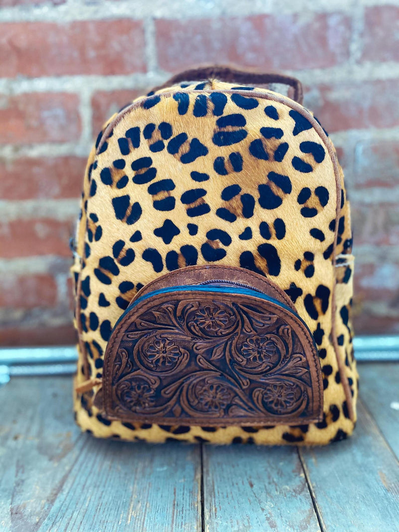 Leopard Tooled Backpack