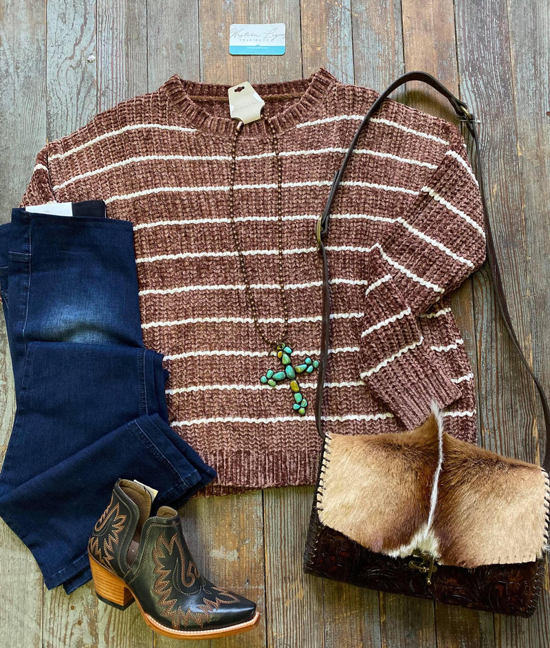 Fawn Stripe Sweater