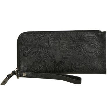 STS Floral Clutch Black