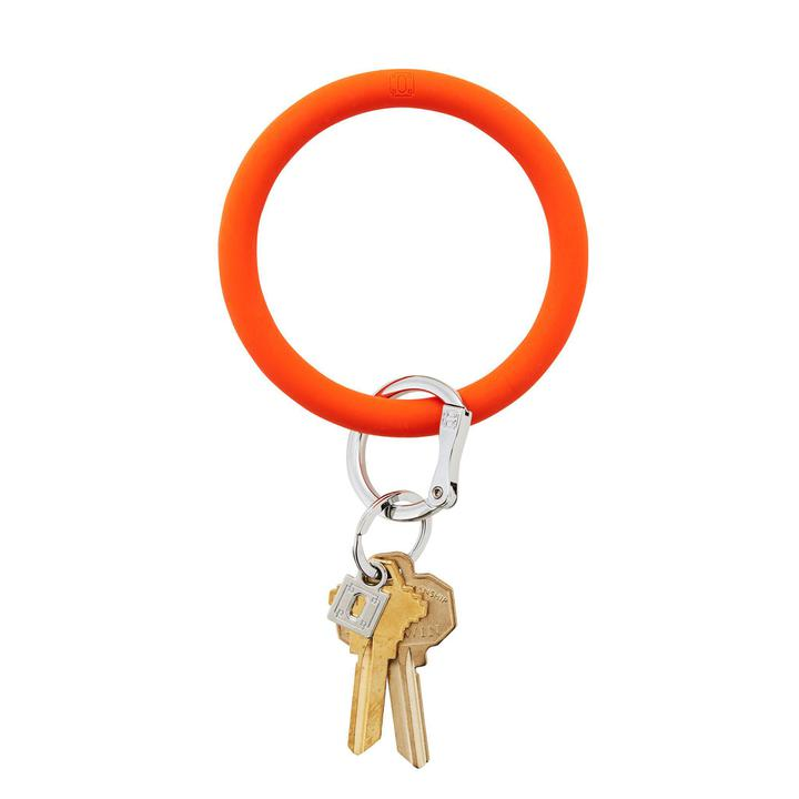 Orange crush silicOne Big-O keyring
