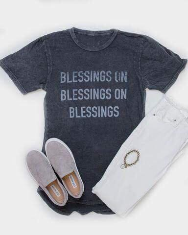 blessings on blessings on blessings longline tee