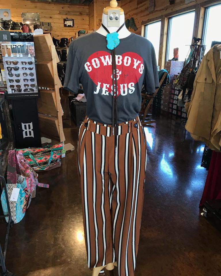 coffee stripe pants
