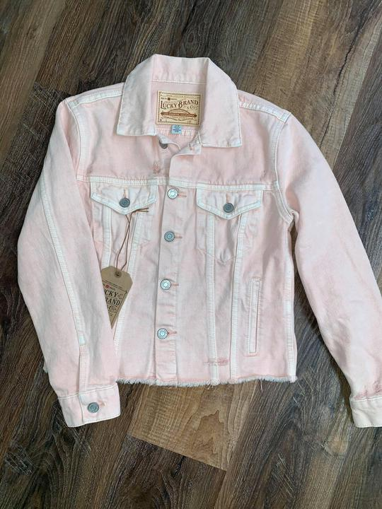 Lucky Coral cropped denim jacket
