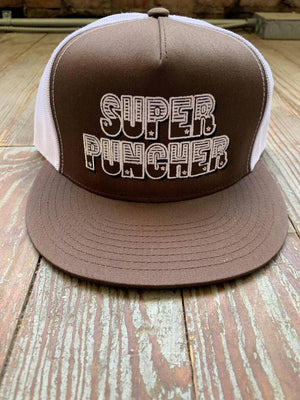 Brown & White Super Puncher cap
