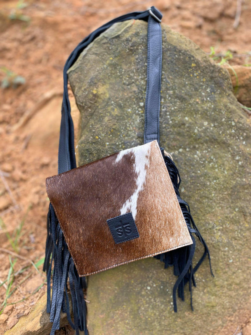 STS Cowhide Miss Kitty Stadium Bag