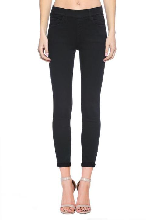 Black Pull On Skinny Jeans