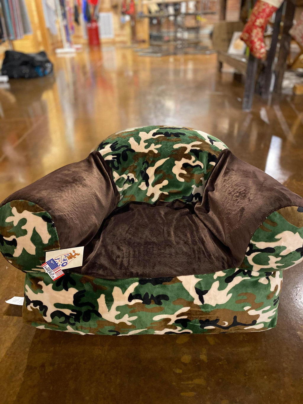 Camo Kids Plush Chair