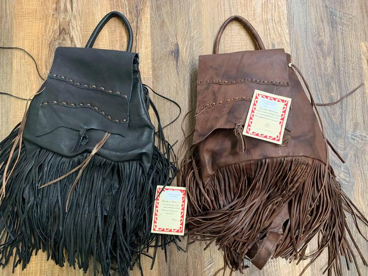 Leather Fringe Backbacks