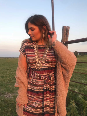 Southwestern Wrap Dress