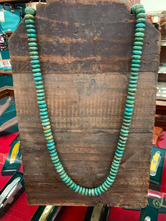 Rolled Turquoise Necklace