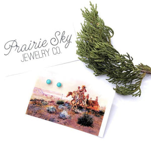 Tiny Turquoise Earrings Prairie Sky