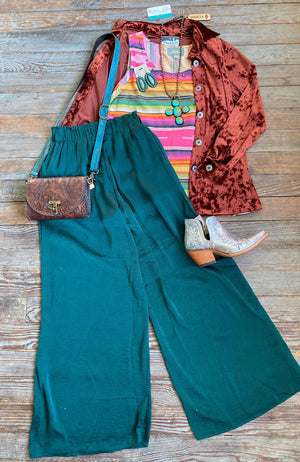 Sea Green Satin Pants