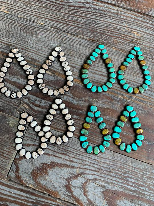 Turquoise Ravenas earrings Sookie Sookie