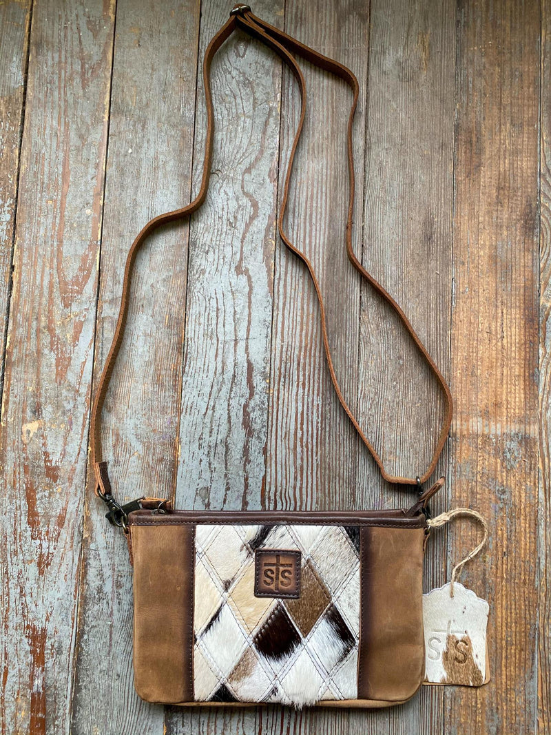 STS Diamond Cowhide Collection Simple Crossbody