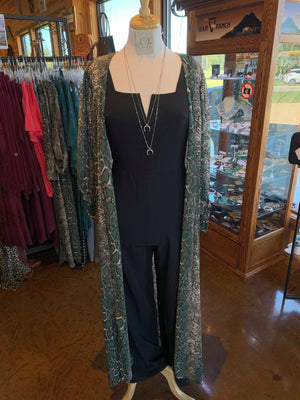 Black Vneck Jumpsuit