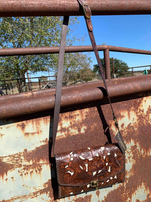 Juan Antonio Brown Crossbody with inlay