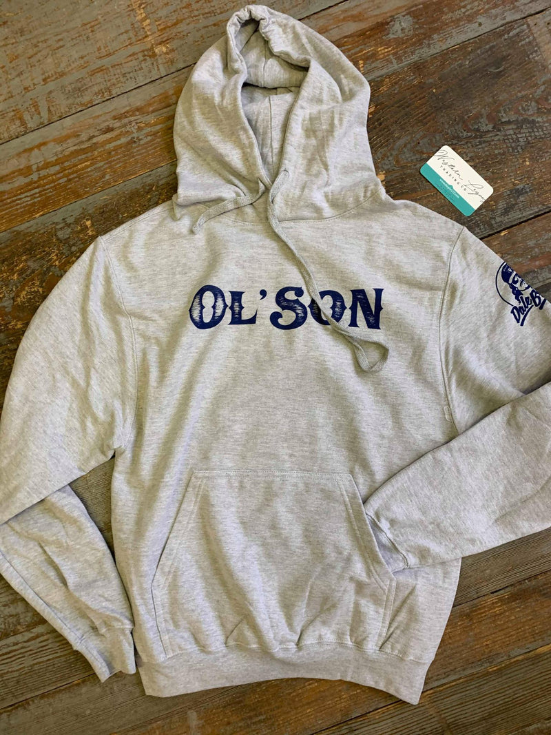 Ol' Son Navy and Grey hoodie