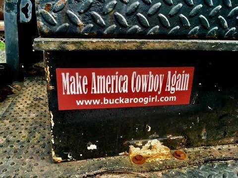 Make America Cowboy Again Bumper Sticker