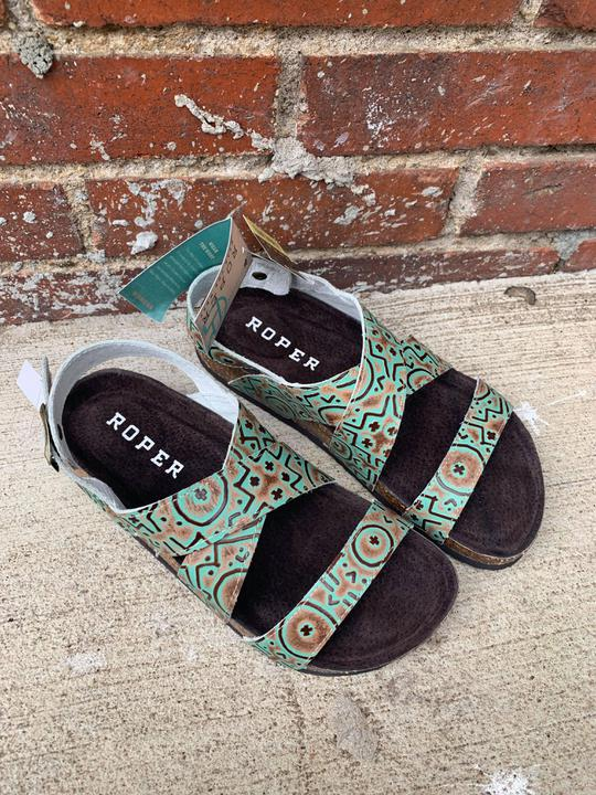 Green and Brown SW  sandal