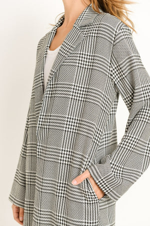 Plaid Long Blazer