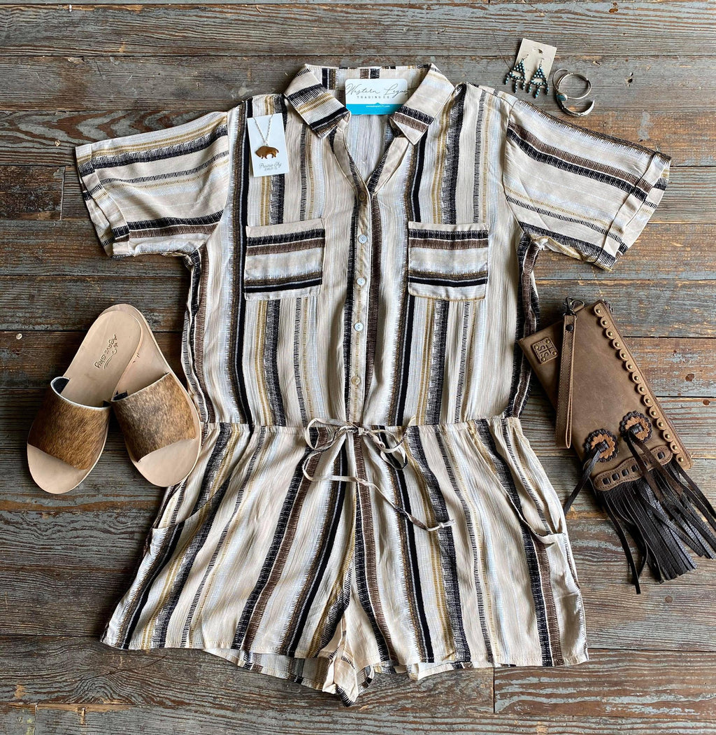 Safari Stripe Romper