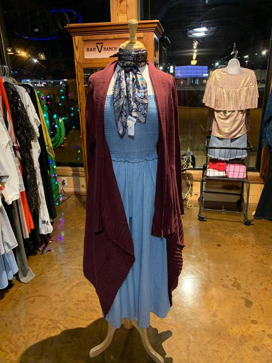 burgundy waterfall cardigan