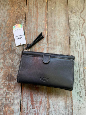 Frida slim black wallet consuela