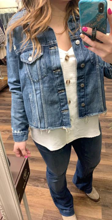 Lucky Cropped Denim Jacket