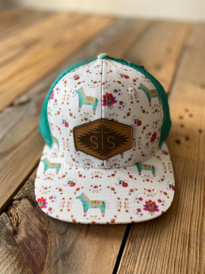 STS ladies leather patch caps