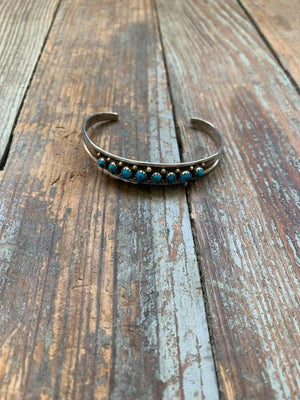 turquoise and sterling cuff