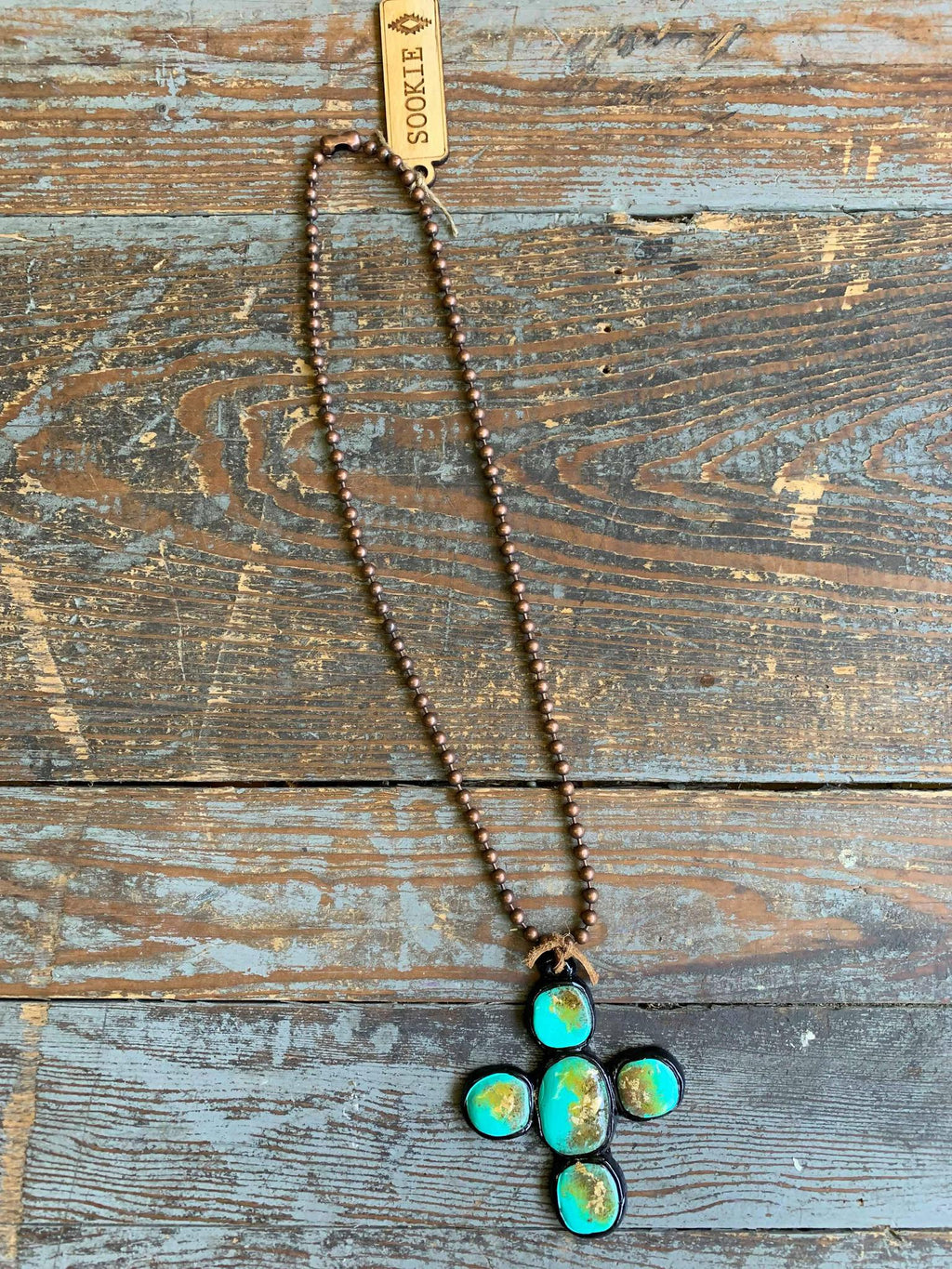 Agave Necklace Black and Turquoise Sookie Sookie