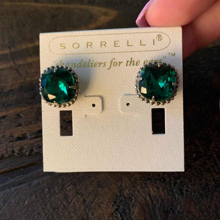Sorrelli Large Emerald Stud Earring