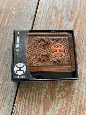1910138W2 orange logo bifold wallet
