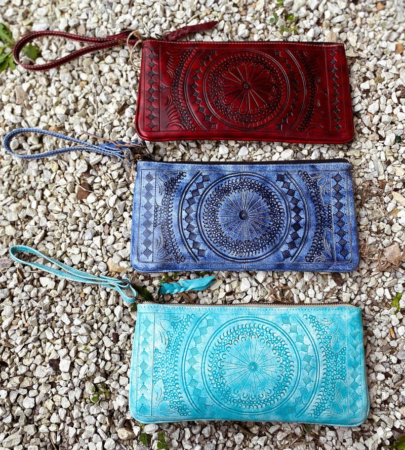 Moroccan Pattern Hand Tooled Wristlets
