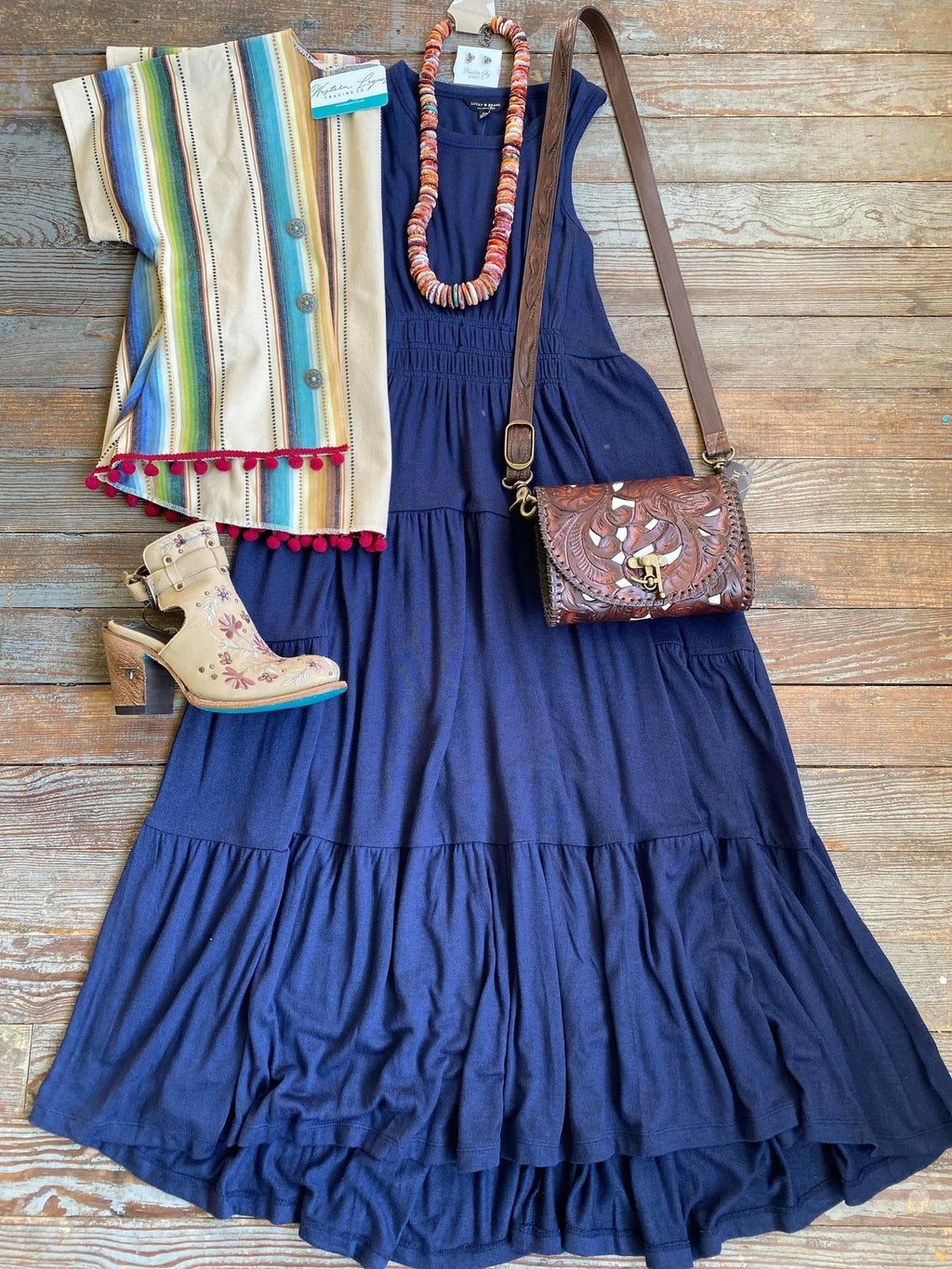 Lucky Brand Navy Maxi Dress