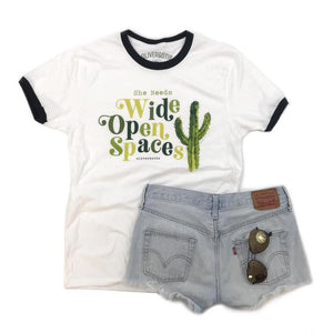 WIDE OPEN SPACES tshirt