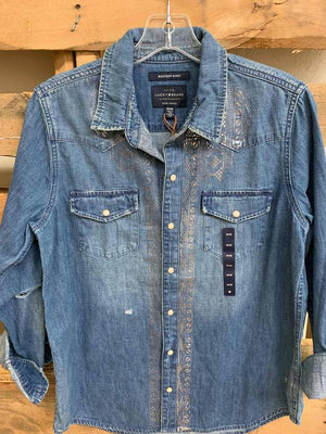 Lucky Denim shirt with silver detail