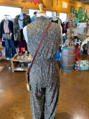 Snake High Neck Jumpsuit