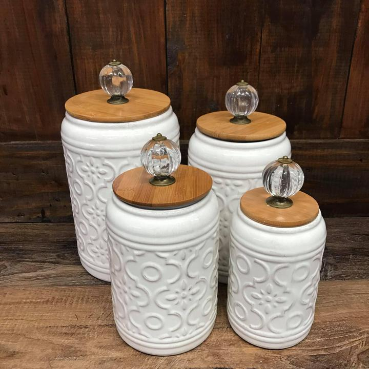 Cream Canister Set