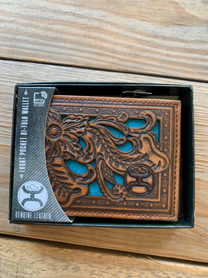 2041161W6 Turquoise Inlay Front Pocket Bifold