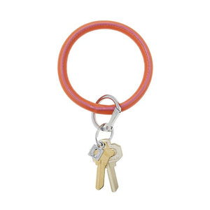 take me tangerine leather Big-O keyring