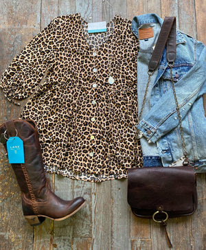 Leopard Tunic with Buttons