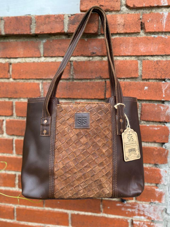 STS Basket Weave Small Tote